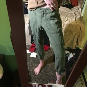 Army green pants from the loft